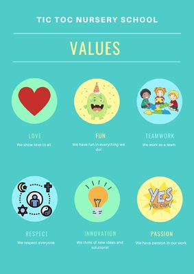 We encourage love, respect, innovation, teamwork, passion & fun at the nursery.