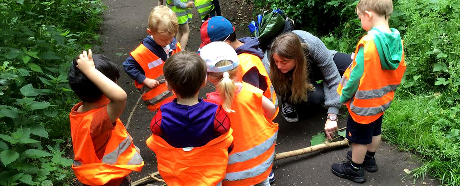 Our weekly Forest School classes allow our older children to learn from nature & benefit from the natural environment nearby.